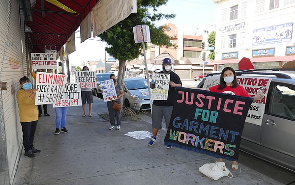 Garment workers-rights supporters protest on May 14