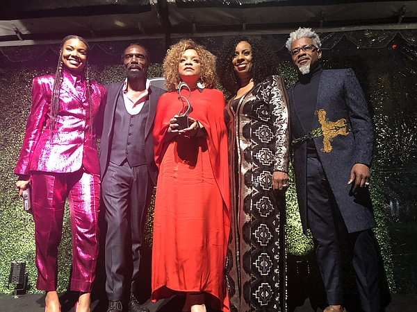 From left, actor Gabrielle Union, Kevan Hall, costume designer Ruth E. Carter, Angela Dean and TJ Walker during the Black Design Collective's inaugural scholarship gala in 2019 during which Carter was honored
