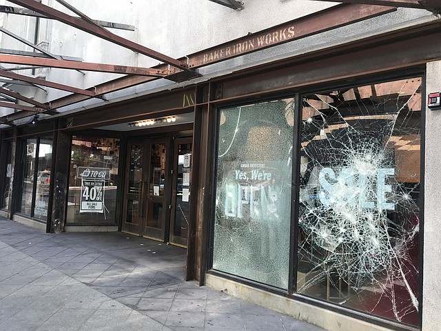 Urban Outfitters located at 810 S. Broadway in downtown Los Angeles