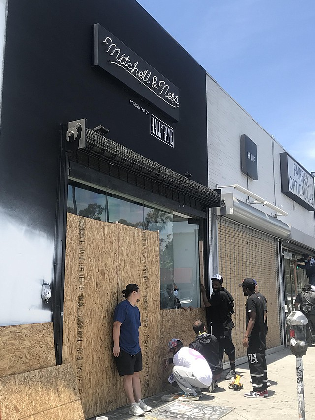 Measures are taken to protect Hall of Fame on Fairfax Avenue.