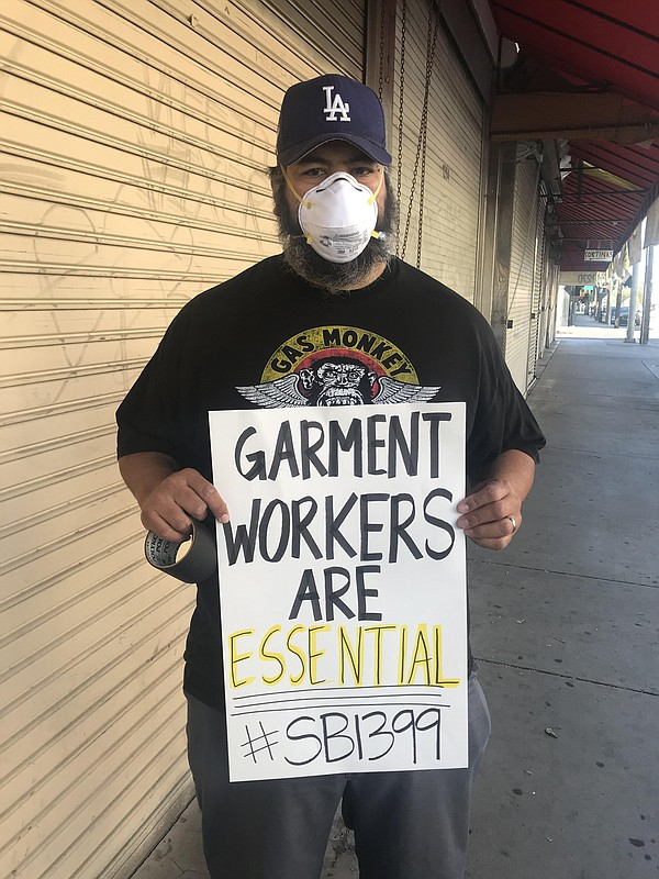 Garment Worker Center protest on May 14