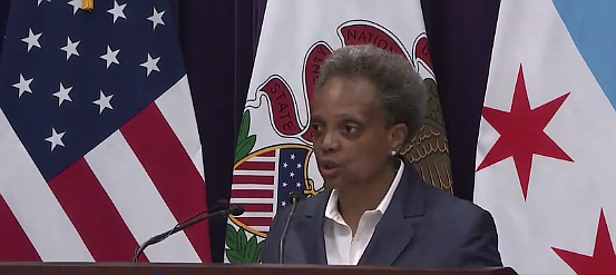 Chicago Mayor Lori Lightfoot addresses looting of businesses within the city's Miracle Mile during an Aug. 10 press conference.  Photo: Office of the Mayor, City of Chicago