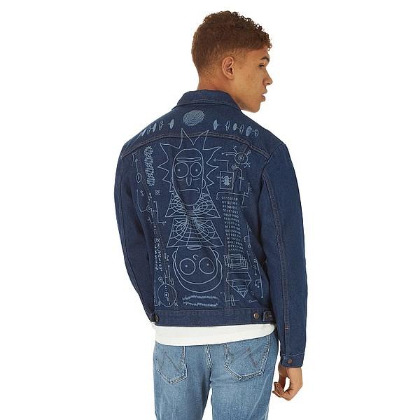 Wrangler x Rick and Morty's custom-designed laser etched jacket Photo: Wrangler