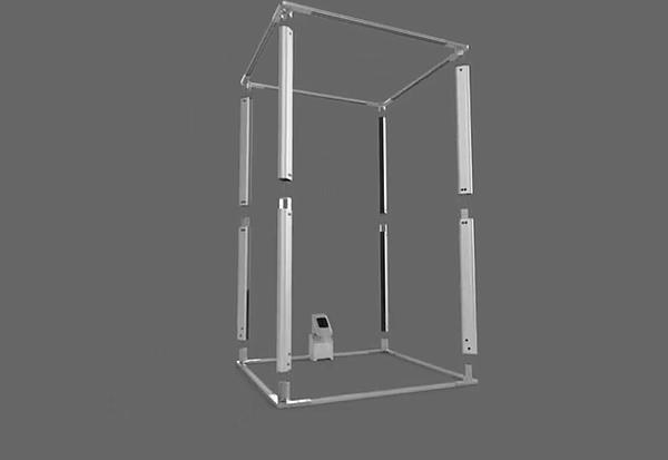 Illustration of TG3D Studio's Scanatic 360 Body Scanner  Image: TG3D