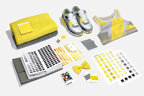 Pantone's Color of the Year was announced as 17-5104 Ultimate Gray and 13-0647 Illuminating Image: Pantone