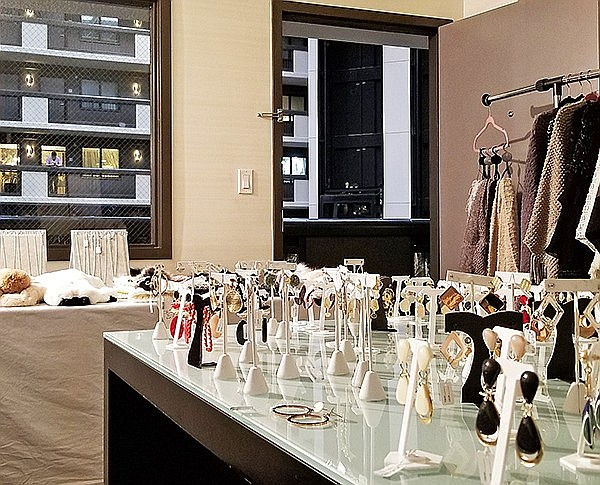 Nyne Accessories suite during IFJAG, February 2019