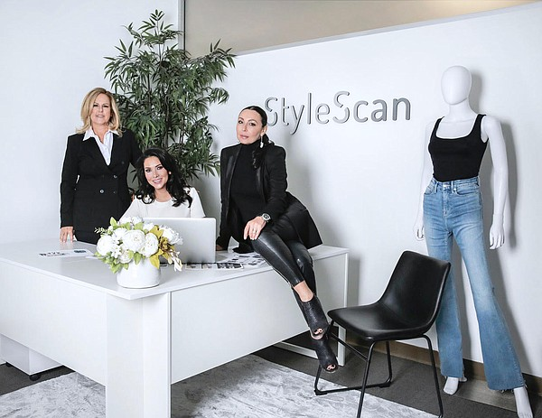 From left, StyleScan executives Michelle Bass, vice president of sales; Larissa Posner, founder and chief executive officer; and Galina Sobolev, chief marketing officer Photo: StyleScan