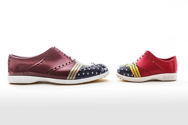 """Footwear inspired by """"Wonder Woman 1984"""" Image: Biion Footwear"""