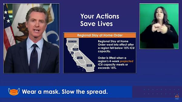 Gov. Gavin Newsom speaks during a press conference on Jan. 25.  Photo: California Governor Gavin Newsom