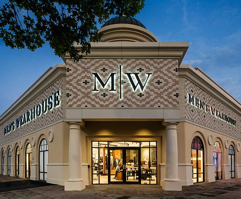 Tailored Brands, whose brands include Men's Wearhouse (pictured), Jos. A. Bank, Moores Clothing for Men and K&G Fashion Superstore, announced it had closed $75 million in funding. Image: Tailored Brands