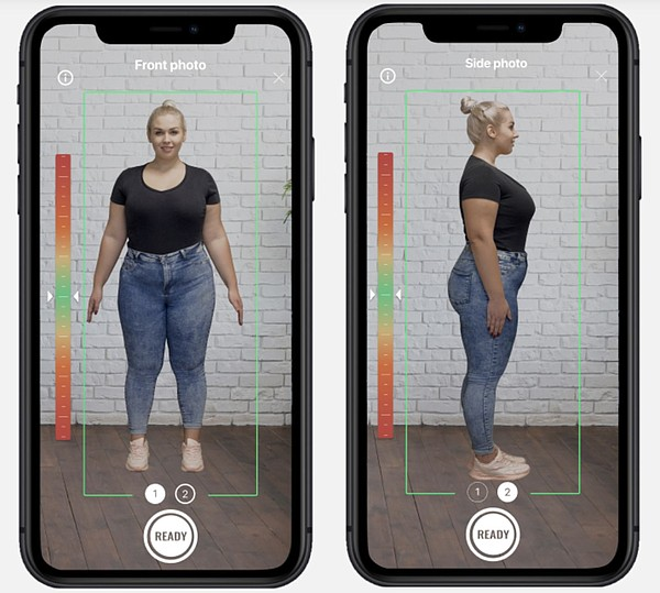 The 3DLook scanning process relies on the company's artificial-intelligence mobile body measuring and fit technology.