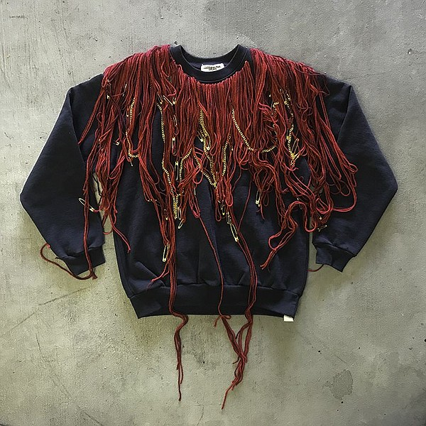 A yarn-dyed sweatshirt by Andrew Hanson.