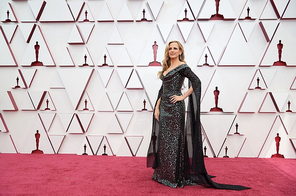 Marlee Matlin wears a bespoke sustainable Vivienne Westwood gown during the 93rd Oscars on April 25.