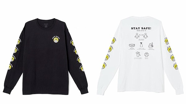 Styles from the Citizens of Humanity Stay Safe T-shirt collection, which will donate 100 percent of retail selling prices from the campaign to Mount Sinai Healthy System's COVID-19 Research program. Photos: Citizens of Humanity