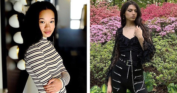 Allegra Abrams and Oli Perez were selected as winners of a PacSun and Fashion Scholarship Fund competition that sought original gender-neutral designs.  Photo: PacSun
