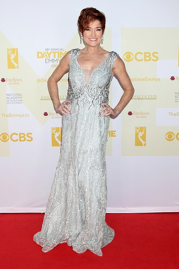 Actor Carolyn Hennesy wears a Pol' Atteu gown during the 48th Daytime Emmy Awards.  Photo: Pol' Atteu