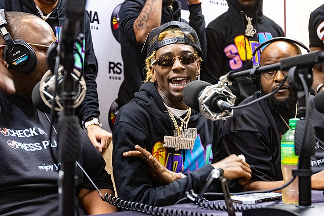 Soulja Boy made an appearance at day one of Agenda and promoted his new clothing line SODMG. Photo: Noe Garcia.