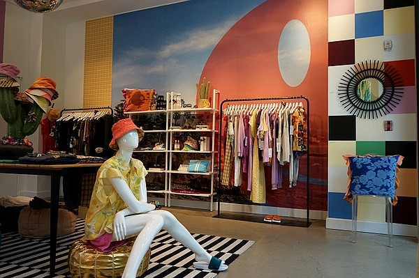 """The Aquarius Cocktail Clothing pop-up at Platform LA has been extended until the end of September, allowing surf-lifestyle industry veteran Lissa Zwahlen to spread the brand's message of offering clothing that makes customers """"feel good."""" Photo: Aquarius Cocktail Clothing"""