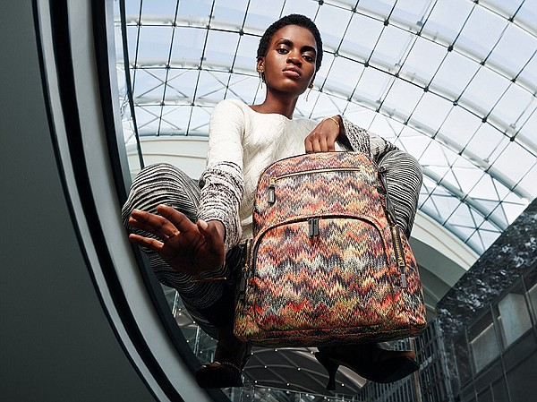 Italian luxury fashion house Missoni has partnered with travel and lifestyle brand Tumi to release an exclusive collection of bags, hard cases and travel accessories. Photo: Tumi