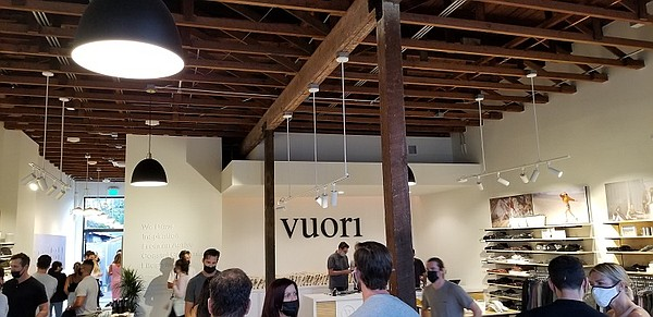 Activewear brand Vuori unveiled its new store in Venice on Abbot Kinney, with a grand opening that took place Aug. 27.
