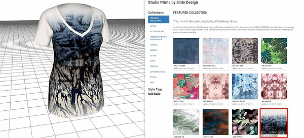 Los Angeles companies Tukatech, the fashion-technology firm, and FABFAD, the digital microfactory, have announced their partnership that affords access to more than 100,00 unique fabric prints designed and sourced by FABFAD to users of TUKA3D Designer Edition.  Image: Tukatech