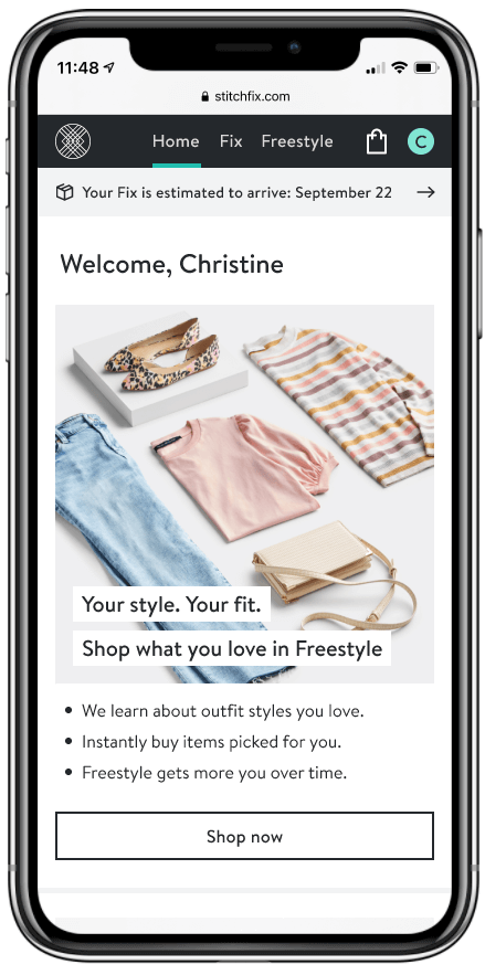 Stitch Fix has taken its personal-styling and -shopping efforts a step further with the launch of its latest feature named Freestyle.  Image: Stitch Fix
