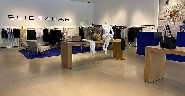 Elie Tahari opened its first location in Los Angeles, where it unveiled a shop at Santa Monica Place. Image: Santa Monica Place