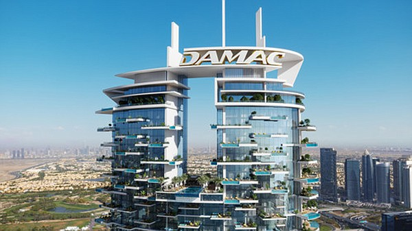 The 70-story skyscraper will be divided into three sections. Every unit in the upper section will have a private pool or jacuzzi. Photo: PRNewsfoto/DAMAC Properties