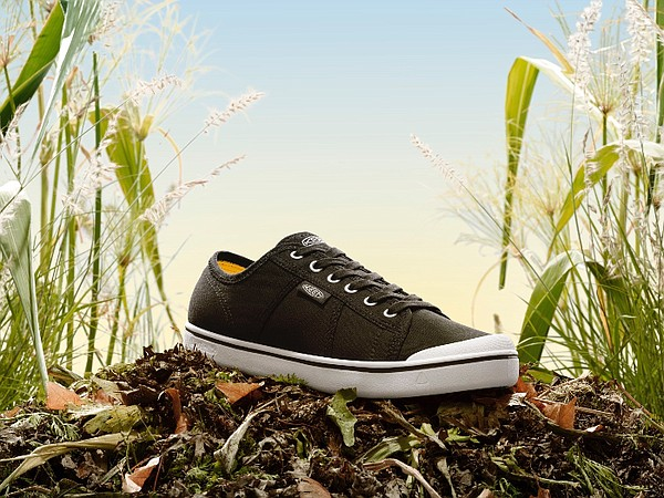 KEEN Inc. debuted its proprietary manufacturing method that uses agricultural waste to create plant-based soles that are made without chemical solvents. Photo: KEEN Footwear