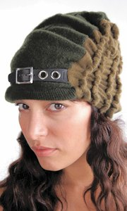 15aa94cdd3ec9 Galadriel Mattei s self-named accessories line started with a slouchy beanie  that she made for herself using a vintage cashmere sweater as fabric.
